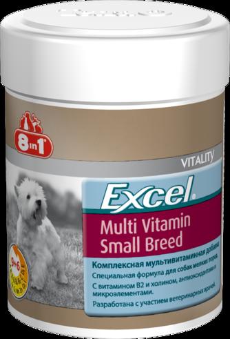 8in1 Excel Мультивитамины для взрослых собак мелких пород 70 таб.