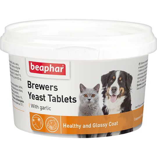 Beaphar Витамины д/собак и кошек с пивными дрожжами и чесноком, 250шт. (Brewers Yeast&Garlic)