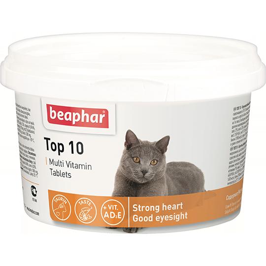 Beaphar Витамины для кошек (Top 10 for cat),180шт.