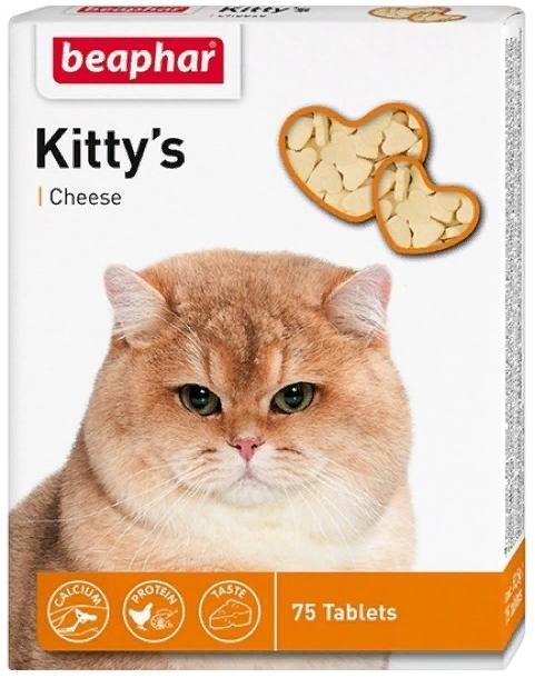Beaphar Kitty's Cheese Витамины для кошек со вкусом сыра, мышки