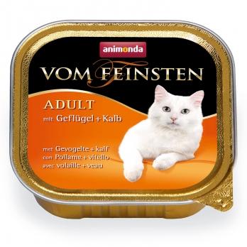 Animonda Vom Feinsten Adult кон.д/кошек с мясом Домашней птицы и Телятиной 100г