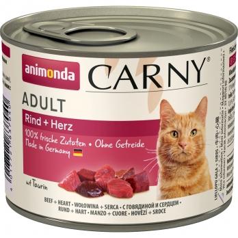 Animonda Carny Adult кон.д/кошек с Говядиной и Сердцем 200г