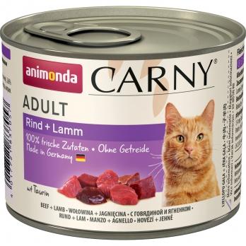 Animonda Carny Adult кон.д/кошек с Говядиной и Ягненком 200г
