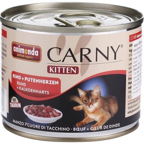Animonda Carny Adult Консервы для кошек с говядиной и сердцем 200 г