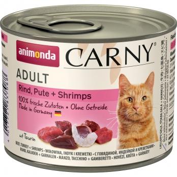 Animonda Carny Adult кон.д/кошек с Говядиной, Индейкой и креветками 200г