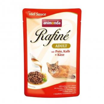 Animonda Rafine Soupe Adult Пауч для кошек с индейкой, телятиной и сыром 100 г