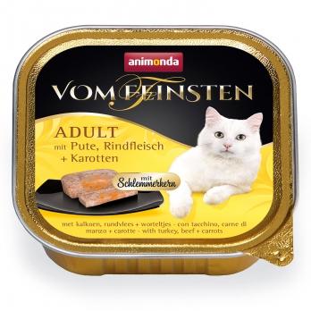 Animonda Vom Feinsten Adult Меню для гурманов кон.д/кошек с Индейкой, говядиной и морковью 100г