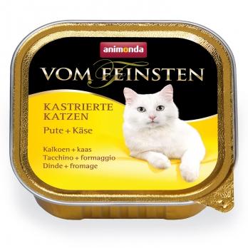 Animonda Vom Feinsten for castrated cats кон.д/кастрированных кошек с Индейкой и Сыром 100г
