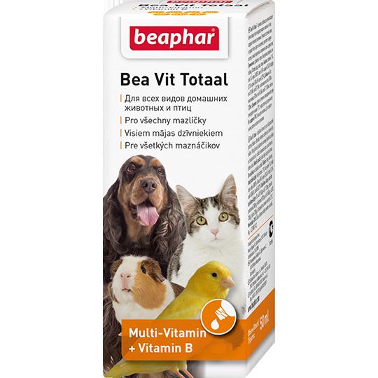 Beaphar Витамины во время линьки д/кошек, собак, птиц и грызунов (Vit Total)