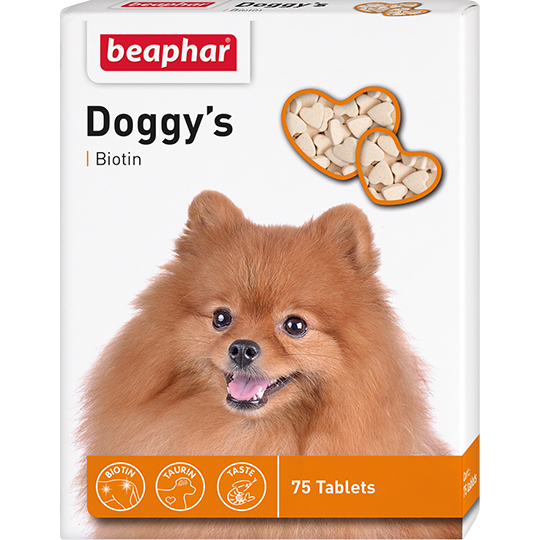 Beaphar Витамины для собак с биотином (Doggy`s+Biotin), 75шт.