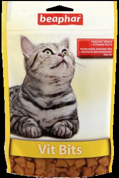 Beaphar Лакомство для кошек с витаминной пастой (Vit Bits), 75шт.
