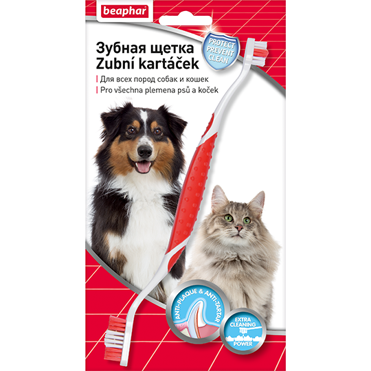 Beaphar Зубная щетка двойная для собак (блистер)