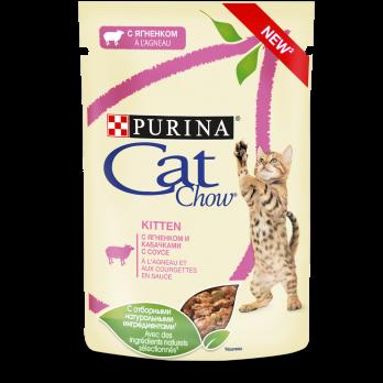 Cat Chow Kitten консервы для котят с ягненком и кабачками 85 г