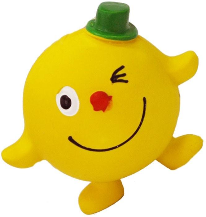 N1 Игрушка для собак Веселый апельсин с пищалкой латекс 7см