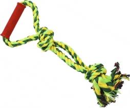 N1 Игрушка для собак Грейфер веревка плетеная с ручкой 40см