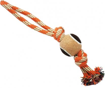 N1 Игрушка для собак Грейфер веревка с мячом и двумя узлами 38см