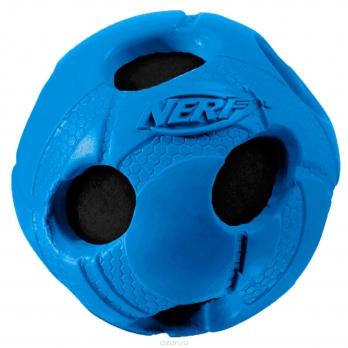 NERF DOG SQUEAKER игрушка мячик с отверстиями 7,5см 22286
