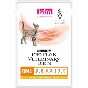 Pro Plan Veterinary diets OM консервы корм для кошек при ожирении 85 г