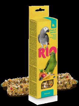 Рио Палочки для попугаев с Фруктами и ягодами 2шт*90г