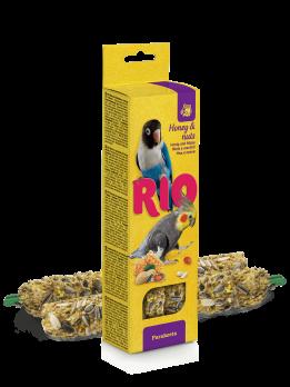Рио Палочки для средних попугаев с Медом и орехами 2шт*75г