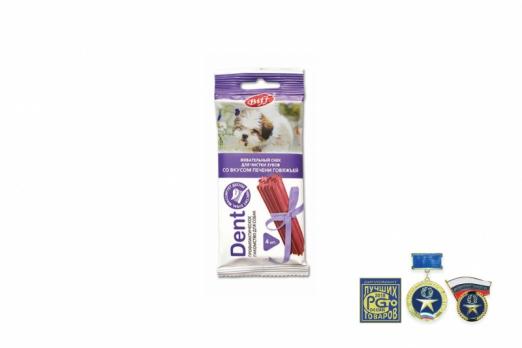 TiTBiT Жевательный снек DENT со вкусом печени говяжьей (для мелких пород)