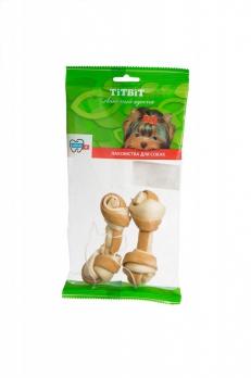 TiTBiT Кость узловая №2 (2шт)с мясом курицы - мягкая упаковка