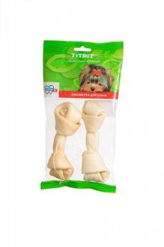 TiTBiT Кость узловая №4 (14см), 2шт. мягкая упаковка