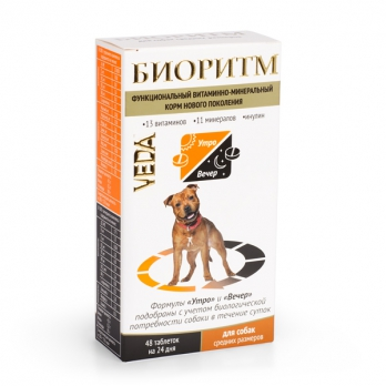 Веда Биоритм Витамины для собак средних пород