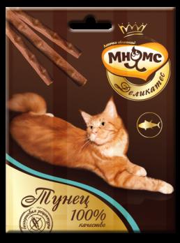 Мнямс Деликатес лакомые палочки 9 см для кошек с тунцом 3х4 г