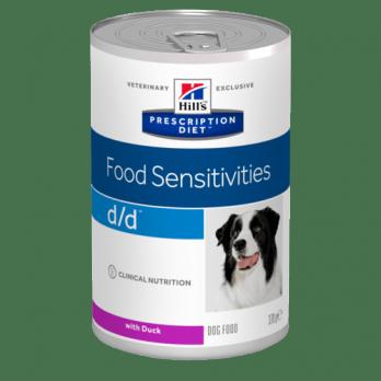 Hill's D/D консервы для собак при аллергии, утка 370г