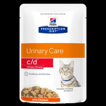 Hill's C/D Stress пауч для кошек, профилактика МКБ при стрессе, курица, 85 г