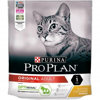 Pro Plan Adult для взрослых кошек от 1 года с курицей