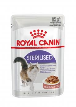 Royal Canin Sterilized консервы кусочки в соусе для кастрированных кошек 1-7лет 85 г