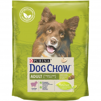 Dog Chow Adult сухой корм для взрослых собак с ягненком