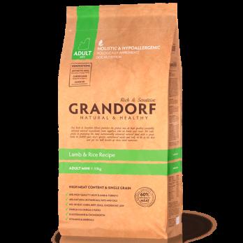 Grandorf Mini сухой корм для взрослых собак мелких пород, Ягненок с рисом