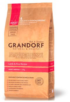 Grandorf Medium сухой корм для взрослых собак средних пород, Ягненок с рисом