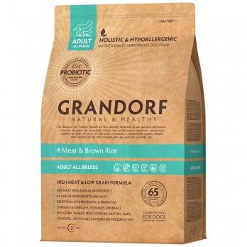 Grandorf PROBIOTIC сухой корм для взрослых собак всех пород, 4вида мяса с пробиотиками