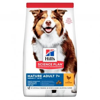 Hill's сухой корм для пожилых собак 7+  всех пород, курица 12 кг