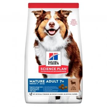 Hill's сухой корм для пожилых собак 7+ всех пород, ягненок и рис