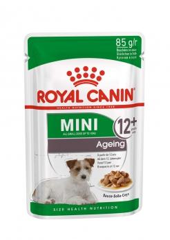 Royal Canin Mini Ageing 12 + консервы кусочки в соусе для пожилых собак малых пород: до 10 кг, старше 8 лет 85 г