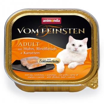 Animonda Vom Feinsten Adult Меню для гурманов кон.д/кошек с Курицей, говядиной и морковью 100г