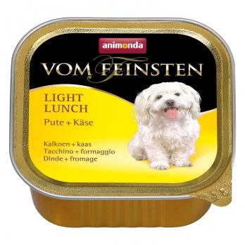 Animonda Vom Feinsten Light Lunch кон.д/собак облегченное меню с Индейкой и сыром 150г