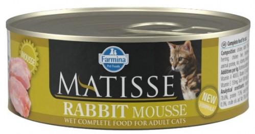 Farmina Консервы MATISSE для кошек мусс с кроликом 85г