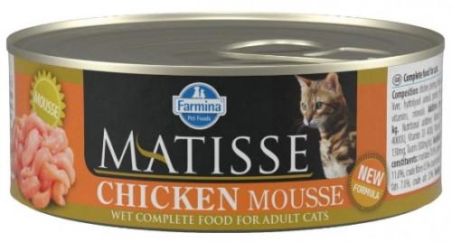 Farmina Консервы MATISSE для кошек мусс с курицей 85г