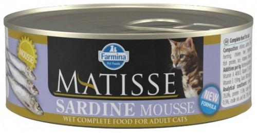 Farmina Консервы MATISSE для кошек мусс с сардинами 85г
