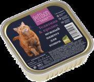 Четвероногий Гурман Petibon Smart консервы для кошек паштет Телятина и кролик 100г