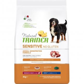 Trainer Natural Sensitive No Gluten Adult Medium & Maxi сух.д/собак средних и крупных пород Утка 3кг