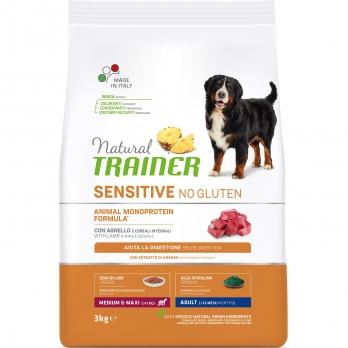 Trainer Natural Sensitive No Gluten Adult Medium & Maxi сух.д/собак средних и крупных пород с Ягненком