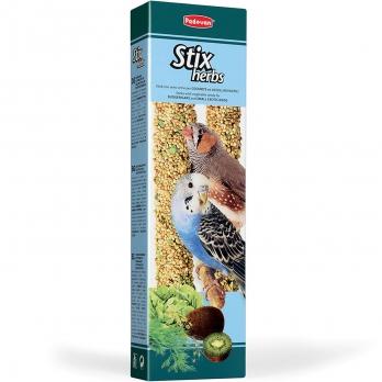 Padovan Палочки д/волнистых попугаев и экзотических птиц Антистрессовые с травами 60г*2шт