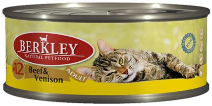 Berkley консервы для кошек №12 Говядина с олениной 100г